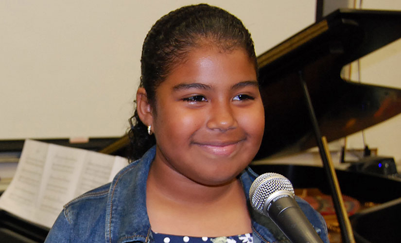 Student Bailey singing- Music Lessons in Los Angeles